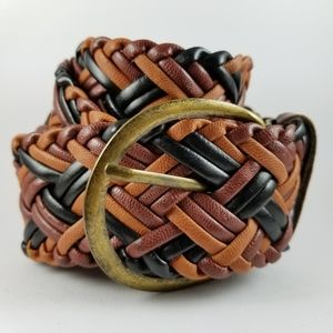 Accessories - Braided faux leather multicoloured belt